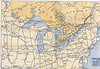 Ontario Official Highway Map 1928 : Ontario Official Highway Map 1928 excerpts.