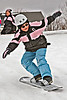Sliding 2009 March 27 BBS JK/SK/2/3 : Bishop Belleau Separate School sliding at McCauley's Hill 2009 March 27th