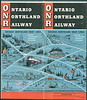 Ontario Northland Railway 1956 October 28 : Ontario Northland Railway and Boat Lines timetable 1956 October 28th. Trains, buses and boats. North Bay, Cochrane, Timmins, Moosonee, Rouyn, Noranda, Englehart, etc.